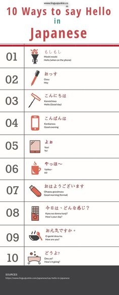 10 ways to say hello in #Japanese https://www.linguajunkie.com/japanese/say-hello-in-japanese Study Japanese, Japanese Kanji, Japanese Words, Japanese Phrases, Japanese Style, Japanese Culture, Japanese Language Learning, Chinese Language, Learning English