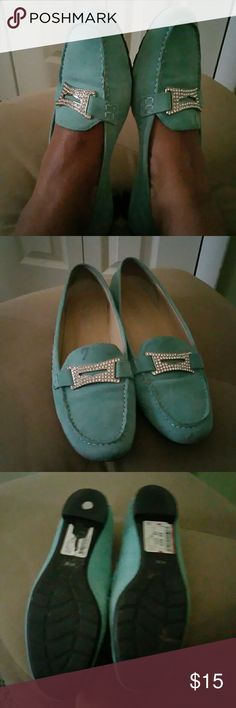 Loafers Lightly worn in good condition a loafer with a little bling really cute and comfortable Franco Sarto Shoes Flats & Loafers