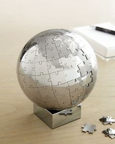 Puzzle Globe at Horchow.