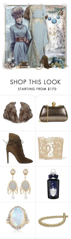 """It is christmas"" by perla57 ❤ liked on Polyvore featuring Elie Saab, Halston Heritage, Gianvito Rossi, Valentino, Dolce&Gabbana, PENHALIGON'S and Ross-Simons"