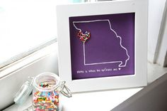 DIY state art. I would love to do this for Maryland but there's no way I want to trace our state!
