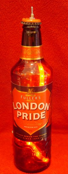 London Pride Red Recycled Bottle LED Lamp by RecycledDesignLondon on Etsy