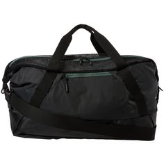 The North Face Apex Gym Duffel Bag - Medium (Asphalt Grey/Duck Green)... ($53) ❤ liked on Polyvore featuring bags and luggage