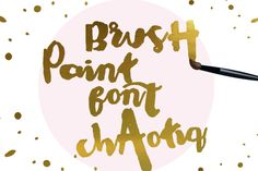 Check out Chaotiq Modern Paint Brush Font by mycandythemes on Creative Market