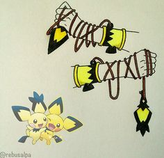 Post with 5610 votes and 128085 views. Tagged with , Awesome; Pokemon as RPG Weapons PART 1 Pichu Pokemon, Play Pokemon, Pokemon Fusion, Cute Pokemon, Pikachu, Pokemon Games, Anime Weapons, Fantasy Weapons, Digimon