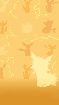 Jolteon. Tap for more Pokemon Pattern Wallpapers for iPhone 5/5s. iPhone 6/6 Plus. - @mobile9 #pattern #backgrounds #pokemon