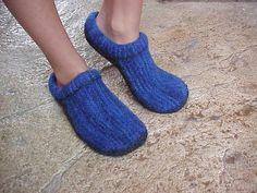 Name: 'Knitting : Felted Clogs made Easy! Knitting Designs, Knitting Patterns, Crochet Patterns, Free Knitting, Knitting Ideas, Knitting Projects, Fabric Flower Headbands, Sewing Equipment, Knitted Slippers