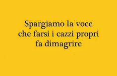 Copiate o inviate. Magari ci riusciamo a tappare qualche bocca! Italian Humor, Italian Quotes, Best Quotes, Funny Quotes, Funny Phrases, Mood Quotes, True Words, Quotations, Funny Pictures