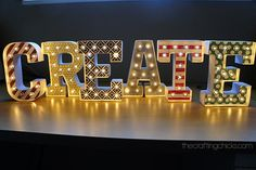 CREATE Marquee Letters - Oh I love these!!  And so easy!