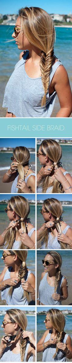 THIS ISLAND LIFE X HAIR ROMANCE | How to do a fishtail side braid