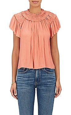 Dahlia Tech-Satin Off-The-Shoulder Top