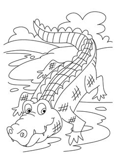 Top 10 Crocodile Coloring Pages For Your Toddler