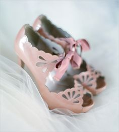 super cute pink wedding shoes