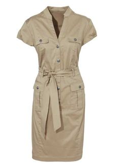 This would be an extremely awesome dress.the colour is your wheat beige. Safari Outfits, Safari Dress, Cute Dresses, Casual Dresses, Fashion Dresses, Vestidos Safari, Daytime Dresses, Summer Dresses, Lily Cole