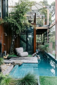 Swimming Pool Designs, Swimming Pools, Lap Pools, Indoor Pools, Indoor Garden, Outdoor Gardens, Garden Pool, Rooftop Garden, Tropical Garden