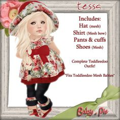 *Baby Pie* Tessa Complete Toddleedoo Girl's Outfit