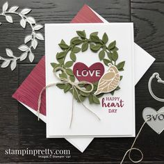 Pretty Cards, Love Cards, Mary Fish, Stampin Pretty, Happy Birthday Funny, Funny Happy, Happy Hearts Day, Valentine Day Cards, Valentines
