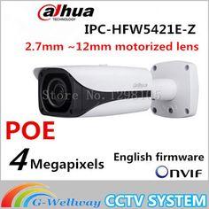 Original Dahua DH-IPC-HFW5421E-Z CCTV IPC 4MP POE HD 2.7mm ~12mm motorized lens WDR Network IR Bullet Camera IPC-HFW5421E-Z