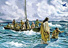 Jesus Christ Walking On The Sea Of Galilee. Painting - Christ Walking On The Sea Of Galilee Fine Art Print Religious Pictures, Bible Pictures, Jesus Pictures, Religious Art, Religious Paintings, Sea Of Galilee, Jesus Painting, Painting Art, Jesus Christus