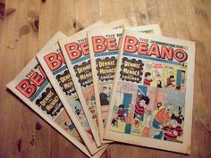 Got some vintage Beano comics like these at the weekend, gonna be doing some art with them c: