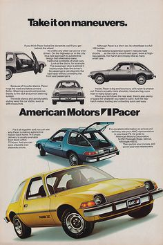 AMC Pacer..oh, I was so embarrassed when my folks brought one of these home! It was and is still ugly..lol