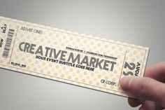 Multipurpose retro ticket 04 by Tzochko on Creative Market