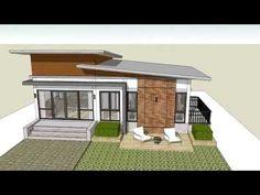 แบบบ้านราคาถูก แบบบ้านโมเดิร์น 4900 [BBH-06] - YouTube