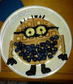 My sweet boyfriend made me minion waffles for my birthday!!! His own design and all!