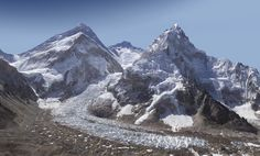 Everest - a panoramic zoom at base camp. If you look close enough, you can see climbers on the mountain. Mount Everest, Glaciers Melting, Pixel Image, Climate Change Effects, Travel News, Cool Photos, Amazing Photos, Beautiful Pictures, Scenery