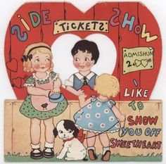 vintage everyday: 36 Ridiculously Adorable Vintage Valentine's Day Cards from the 1940s