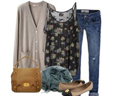 cute way to wear floral