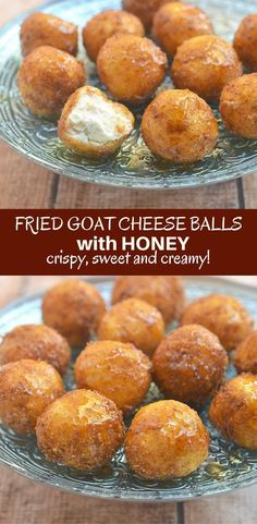 Fried goat cheese balls with honey are this holiday season's appetizer of choice! A delightful combination of sweet, creamy and crunchy, they're sure to be a party favorite!