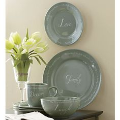 16-Piece Inspiration Dinnerware from Through the Country Door® -- I love these!!!! Hint. Hint
