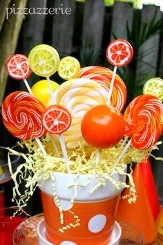 Lollipop Centerpiece ~ love!