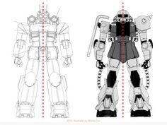 淺談模型刻線的佈局 02 Gundam Tutorial, Gundam Art, Mechanical Design, Mobile Suit, Projects To Try, Sci Fi, Darth Vader, Anime, Pictures