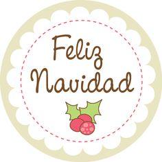Navidad Feliz - Cartel en Vinilo Christmas Labels, Christmas Scrapbook, Christmas Printables, Christmas Candy, Christmas Time, Christmas Crafts, Merry Christmas, Christmas Decorations, Xmas