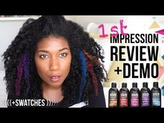Loreal Liquid Hair Chalk First Impression Review, Demo + Swatches | Natural Hair - YouTube