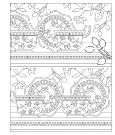 Elegant Tea Party Coloring Book | Coloring Pages | Pinterest ...