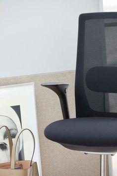 Minimal Scandinavian office chair in trendy colours