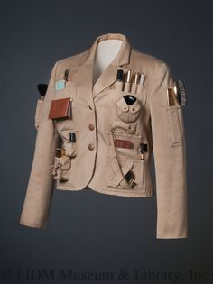 Survival Jacket Franco Moschino features a host of clever pockets packed… Franco Moschino, Survival, Vintage Outfits, Vintage Fashion, Tactical Clothing, Black Image, Double Breasted Coat, Military Fashion, Military Jacket