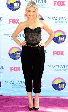 <3 Love it! The 'Pretty Little Liars' star vamped it up in a Monique Lhuillier top, Balenciaga pants and Jimmy Choo Heels | Teen Choice Awards 2012: Ashley Benson
