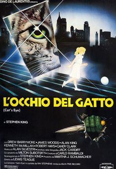Manifesto de 'L'occhio del gatto', film horror tratto da un racconto di Stephen King