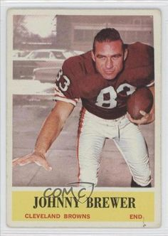 Johnny Brewer (Rookie Card)  Cleveland Browns (Football Card) 1964
