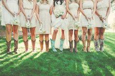 Bridesmaids in boots! The Windmill Winery, Rustic Wedding Venue, AZ Barn Wedding
