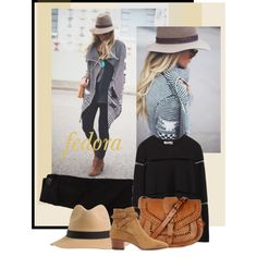 Felt Fedora by bjigg on Polyvore featuring Zara, American Eagle Outfitters, Yves Saint Laurent and Warehouse