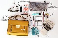 Inside My Handbag // Modish and Main {yellow @Target 3.1 Phillip Lim crossbody satchel}