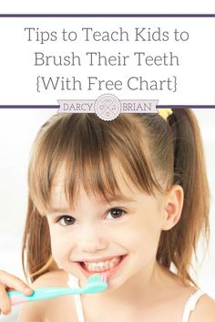 Don't miss our tips for How To Brush Your Teeth For Children! These tips are perfect and come with a great Free Printable Tooth Brushing Chart! via @darcyz