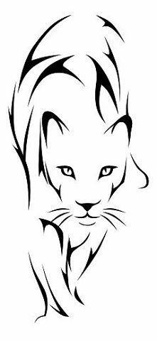 simple line art lioness tattoo Stencil Patterns, Stencil Art, Cool Stencils, Animal Stencil, Lioness Tattoo, Tattoo Cat, Tattoo Thigh, Sketch Tattoo, Cat Tattoos