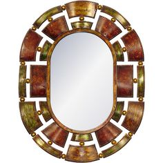 Found it at Wayfair.co.uk - Knightsbridge Metal Mirror Oval