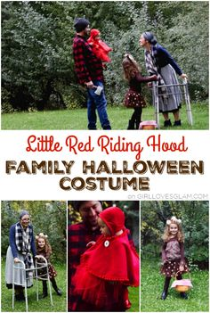 No Sew Baby Little Red Riding Hood Costume Little Red Riding Hood Family Costume for Halloween on www.girllovesglam Source by somewhatsimple Diy Halloween Gifts, Handmade Halloween Costumes, Halloween Decorations For Kids, Halloween Costumes For Girls, Baby Costumes, Halloween Party Decor, Halloween Kids, Vintage Halloween, Zombie Costumes